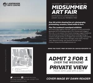 Landmark Midsummer Art Fair Invite