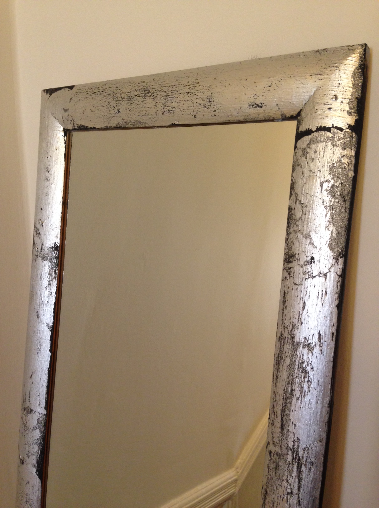 Revamped plain mirror frame with #chalkpaint & #gilding ...