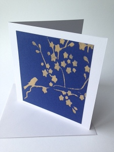 blue & gold card